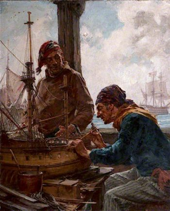 His Old Ship | Arthur McCormick | oil painting