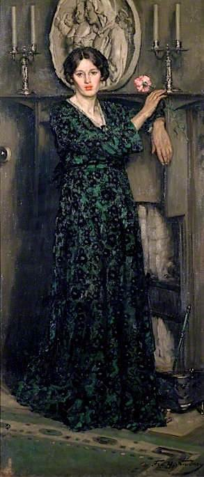 The Lady of the Carnation | Francis Henry Newbery | oil painting