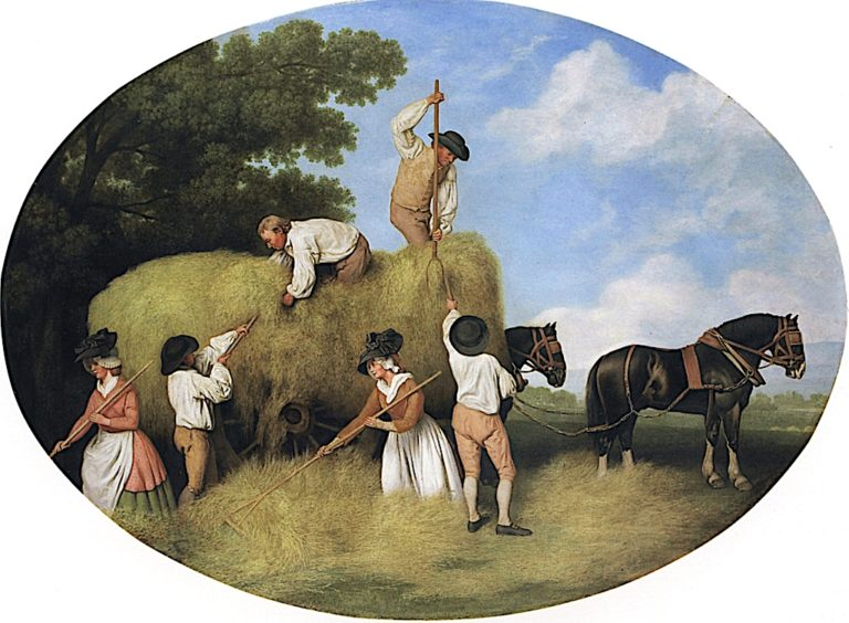 Hay - Makers | George Stubbs | oil painting