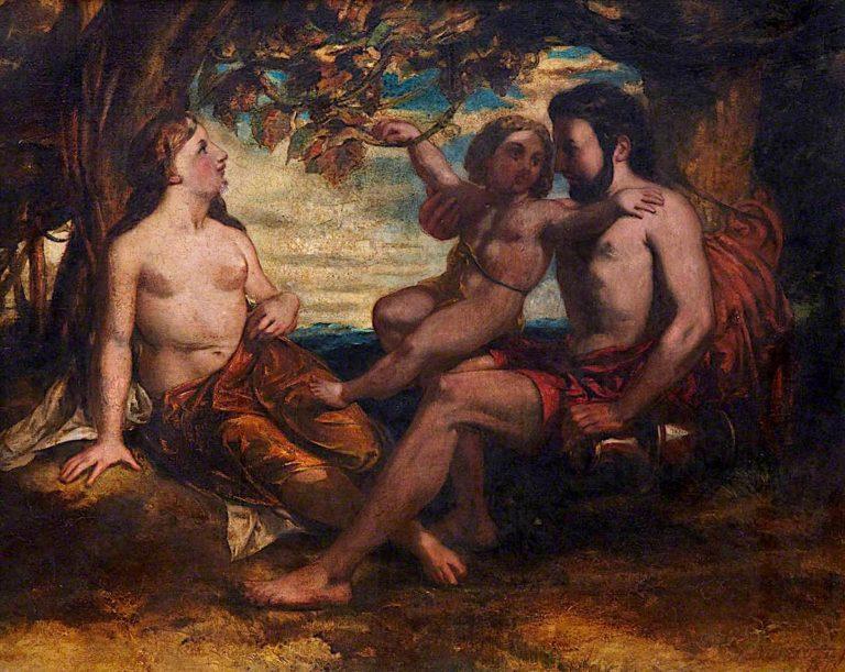 Mythological Group | David Scott | oil painting