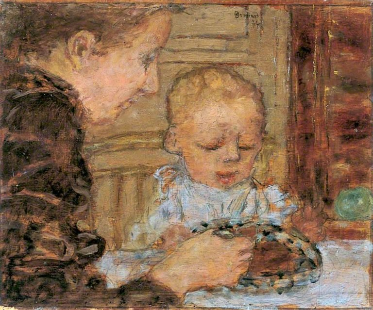 Grandmother and Child | Pierre Bonnard | oil painting