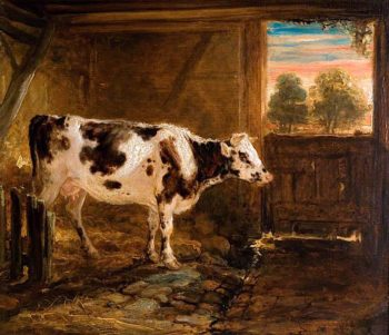 Cow in Barn | James Ward | oil painting