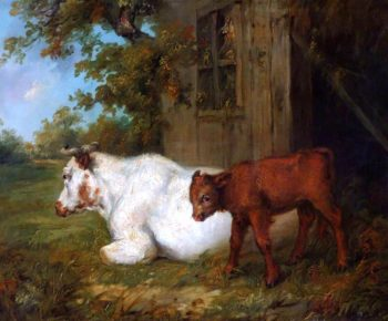 Cow and Calf | James Ward | oil painting