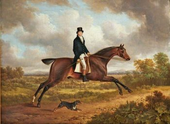 A Gentleman on a Bay Horse | Charles Towne | oil painting