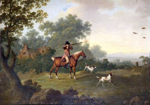 A Gentleman on Horseback Shooting Partridges | Charles Towne | oil painting