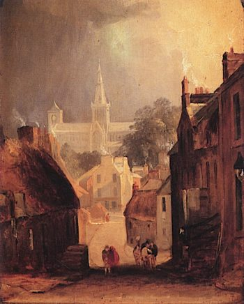 Glasgow Cathedral from Drygate | Horatio McCulloch | oil painting