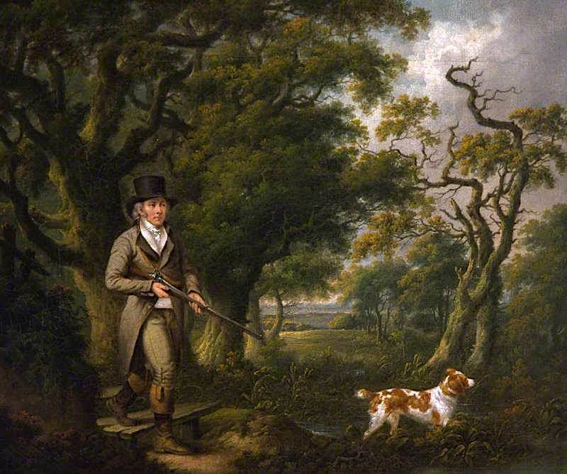 A Gentleman Shooting with a Spaniel | Charles Towne | oil painting