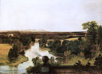 View from the Roman Camp at Dalzell near Hamilton | Horatio McCulloch | oil painting