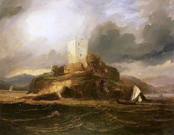 An Island Keep   Horatio McCulloch   oil painting