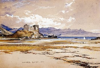 Knock Castle and the Sound of Sleat   Horatio McCulloch   oil painting