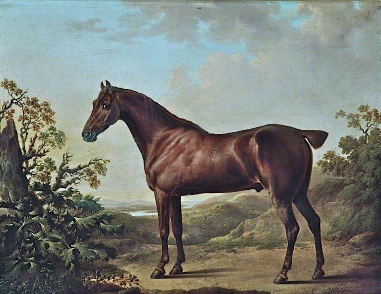 Brown Horse in a Landscape | Charles Towne | oil painting
