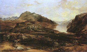 Loch Maree Ross - Shire | Horatio McCulloch | oil painting