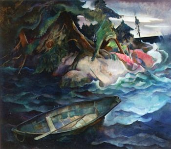 The Drowning | Newell Convers (N.C. Wyeth | oil painting