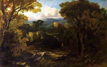 A Border Keep   Horatio McCulloch   oil painting