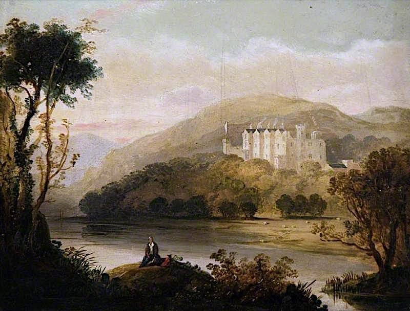 Abbotsford from the Tweed   Horatio McCulloch   oil painting