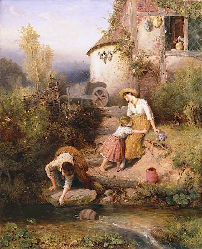 The Brook | Myles Birket Foster | oil painting