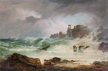 Dunbar Castle | Horatio McCulloch | oil painting