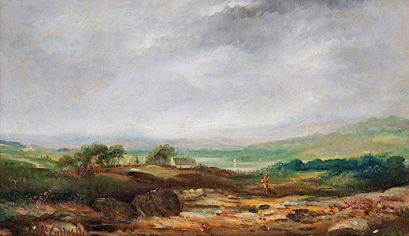 Landscape Sketch | Horatio McCulloch | oil painting