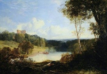 Newark Castle Overlooking the Yarrow | Horatio McCulloch | oil painting