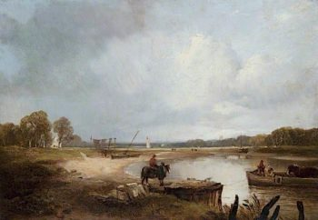 The Clyde near Erskine Ferry | Horatio McCulloch | oil painting