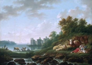 Caernarvon Castle | Charles Towne | oil painting