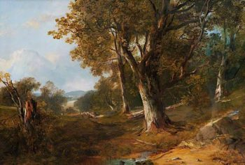 Wooded Landscape with Castle in the Distance | Horatio McCulloch | oil painting