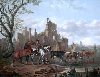 Castle Ruins   Charles Towne   oil painting