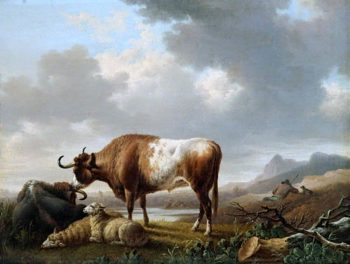 Cattle and Sheep | Charles Towne | oil painting