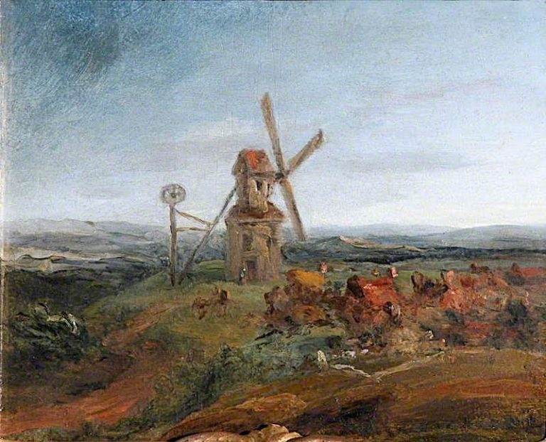 An Extensive Landscape with a Windmill | James Ward | oil painting