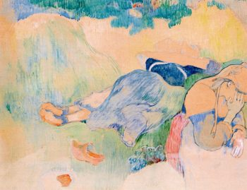 Breton Women Resting   Charles Laval   oil painting