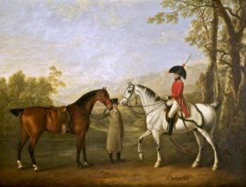Colonel Bolton Reviewing Volunteers   Charles Towne   oil painting