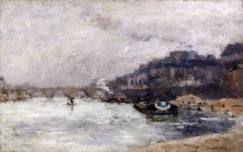 Quai de Seine | Albert Lebourg | oil painting