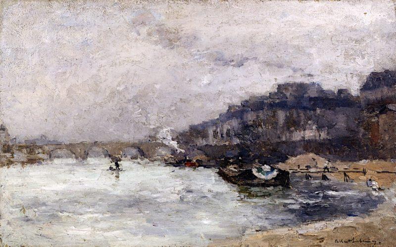Quai de Seine   Albert Lebourg   oil painting