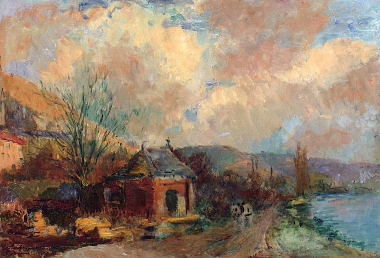 Banks of the Seine at Rouen | Albert Lebourg | oil painting
