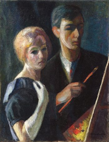 The Artist and His Wife | Abraham Weinbaum | oil painting