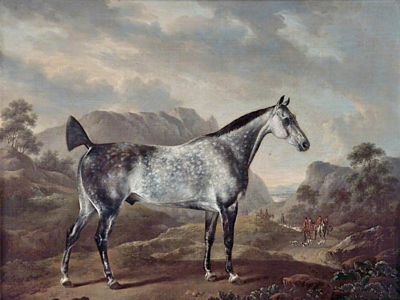 Dappled Grey Horse in a Landscape | Charles Towne | oil painting