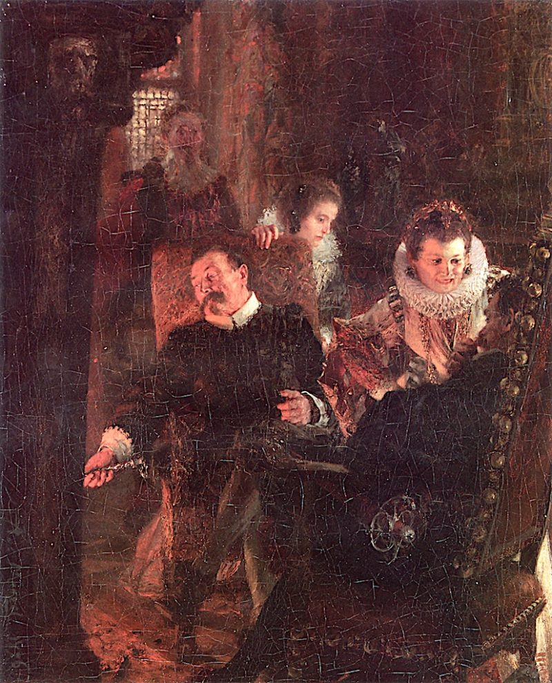 By the Fireplace | Adolph von Menzel | oil painting
