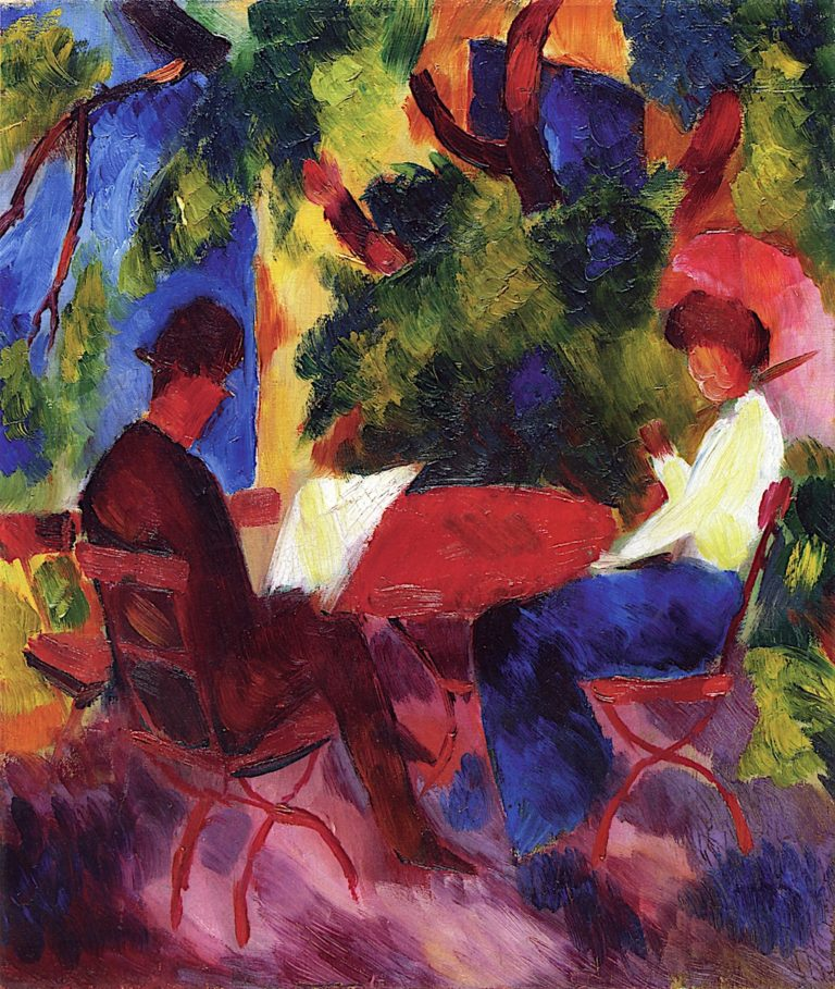Couple at the Garden Table | August Macke | oil painting