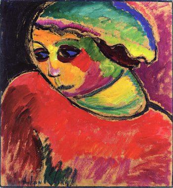 Green Hood | Alexei von Jawlensky | oil painting