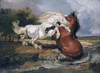 Fighting Horses | James Ward | oil painting