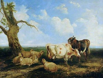 Landscape with Cattle | James Ward | oil painting