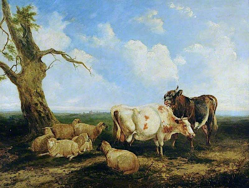 Landscape with Cattle   James Ward   oil painting