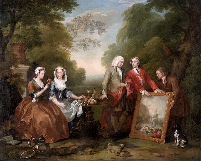 The Fountaine Family and Friends -  A Conversation of Six Figures | William Hogarth | oil painting