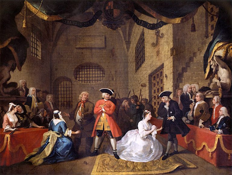 A Scene from The Beggars Opera   William Hogarth   oil painting