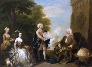 Governor Woods Rogers and His Children | William Hogarth | oil painting