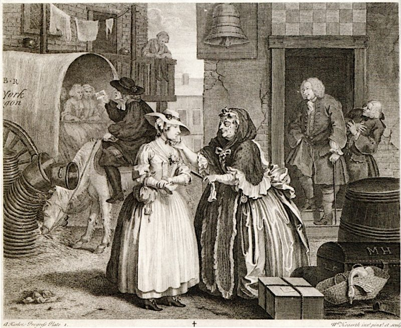 A Harlots Progress -  1. Her Arrival in London | William Hogarth | oil painting