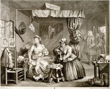 A Harlots Progress -  3. Her Apprehension by a Magistrate | William Hogarth | oil painting
