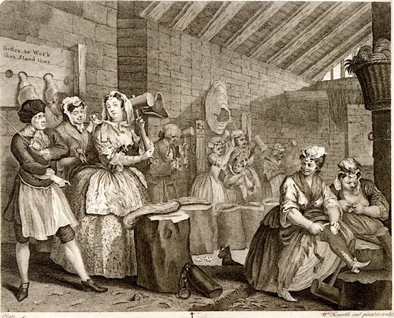 A Harlots Progress -  4. Her Detention in Bridewell | William Hogarth | oil painting