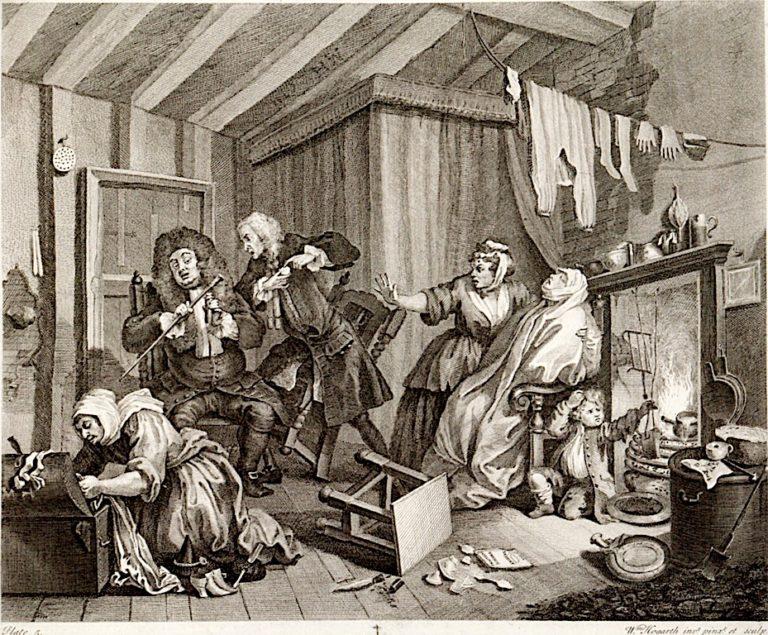 A Harlots Progress -  5. Her Death | William Hogarth | oil painting