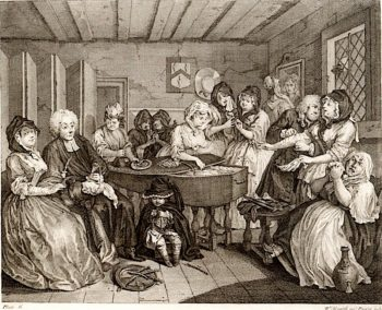 A Harlots Progress -  6. Her Funeral | William Hogarth | oil painting